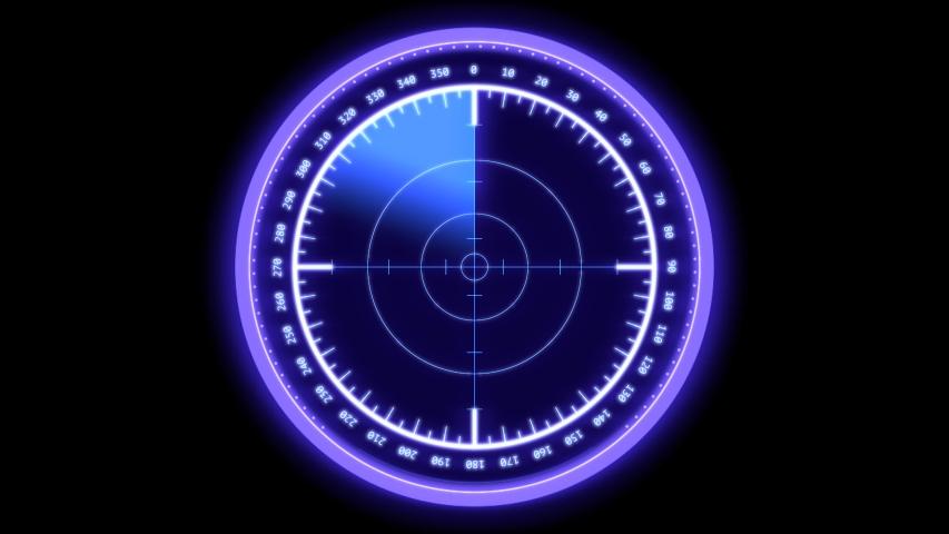 Rear sight producing neon light on a black background. | Shutterstock HD Video #1055594579