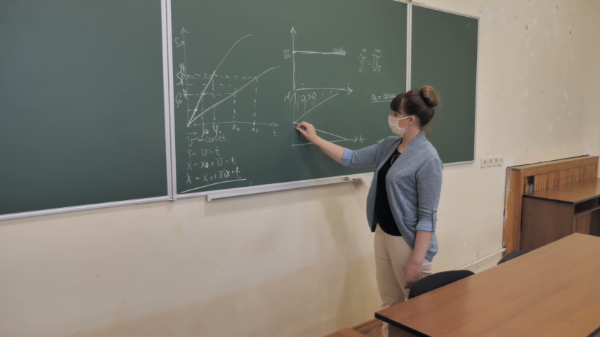 Female Teacher In Protected Mask Gives Physical Lesson | Shutterstock HD Video #1055612345