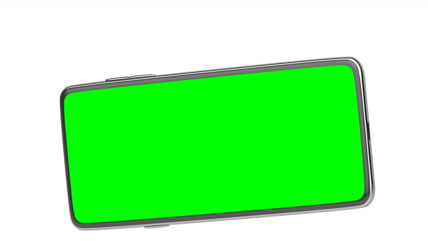 Smartphone with green screen on white background | Shutterstock HD Video #1055612417