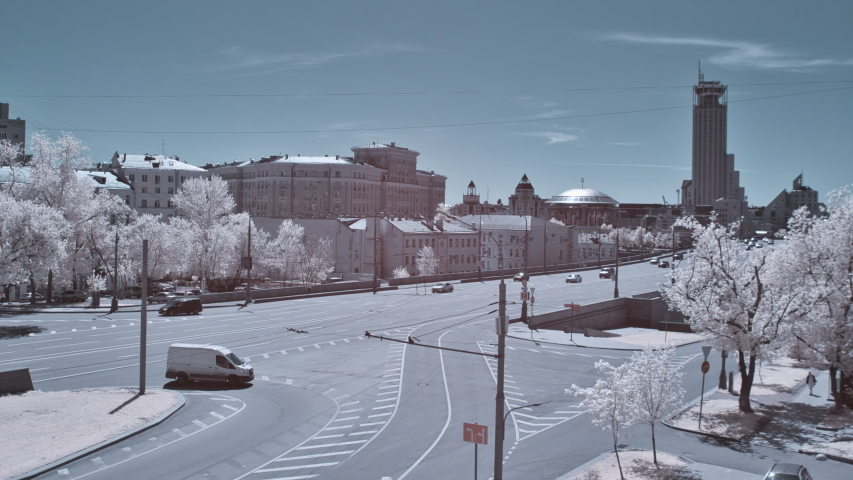 Infrared Time Lapse Moscow City Traffic   Shutterstock HD Video #1055652812