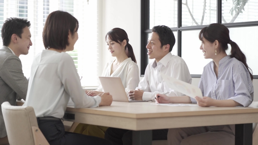 Asian businesspeople meeting at office | Shutterstock HD Video #1055654078