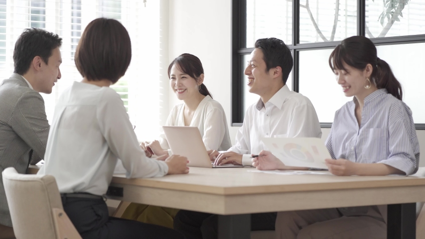 Asian businesspeople meeting at office | Shutterstock HD Video #1055656463