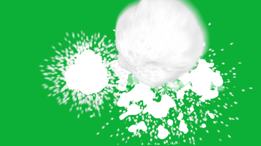 Realistic Snowball package 4K animation on Green screen background - Animated Snow Ball Hit on Chroma key background - Throw Snow Ball animation  | Shutterstock HD Video #1055660663