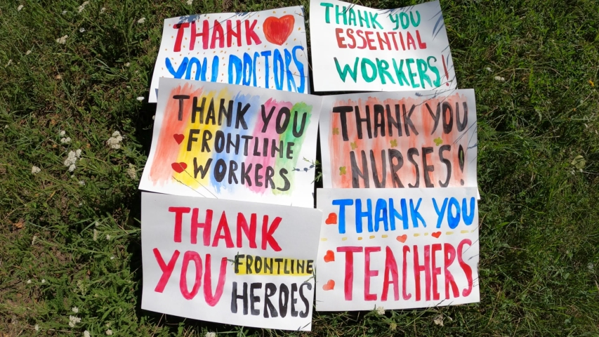 Thank you essential workers - Thank You Frontline Workers - Thank You Frontline Heroes - Thank You Doctors