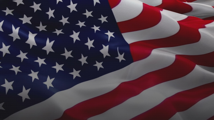 United States of America waving flag video gradient background. US Flag Motion Loop. USA flag for Independence Day, 4th of july US American Flag Waving 1080p Full HD footage. USA America flags video  | Shutterstock HD Video #1055676314