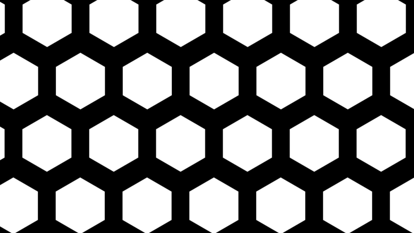 White hexagons motion background seamless loop | Shutterstock HD Video #1055704256