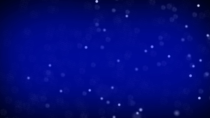 Abstract white dots is random moving animation on blue background. Animation of seamless loop | Shutterstock HD Video #1055705594
