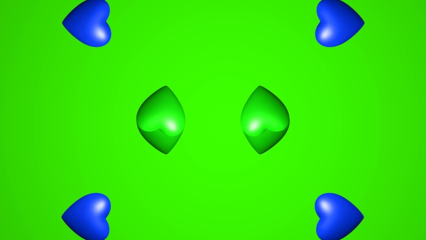 Colorful Hearts in Motion Graphics With Green Screen in Background | Shutterstock HD Video #1055705774