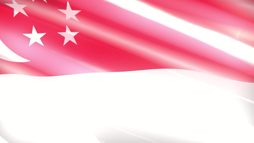 60FPS shiny holiday Singapore flag colored in red, white waving, 3d 4k UHD seamless looping animation | Shutterstock HD Video #1055705984