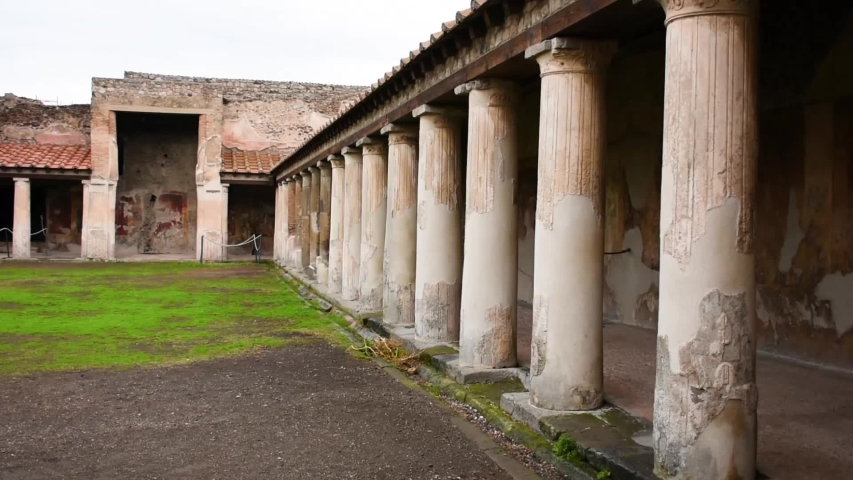 Ruins of famous Pompeii city, Italy.
