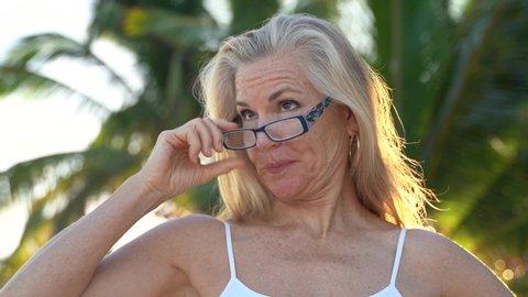 Blonde sexy granny Shutterstock