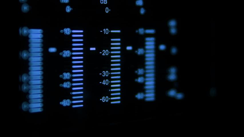 Macro of Audio Volume Bargraph on a Digital Video Recorder