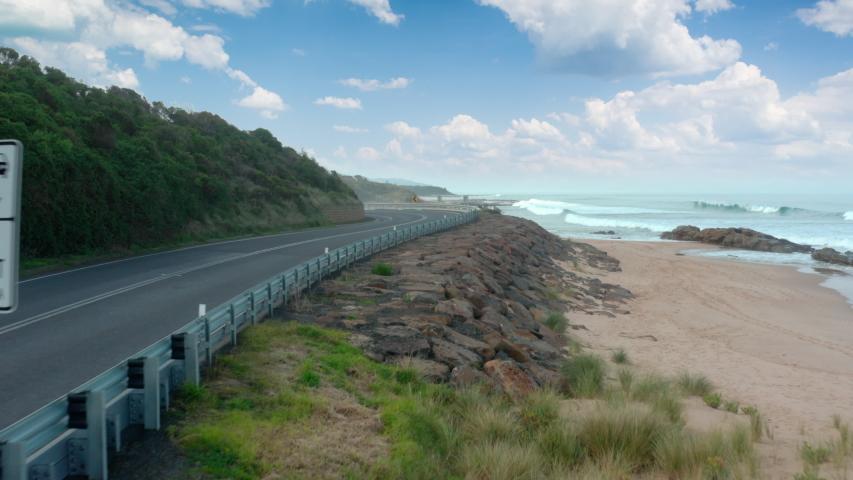 Great ocean road australia. Sunny day. | Shutterstock HD Video #1055911352