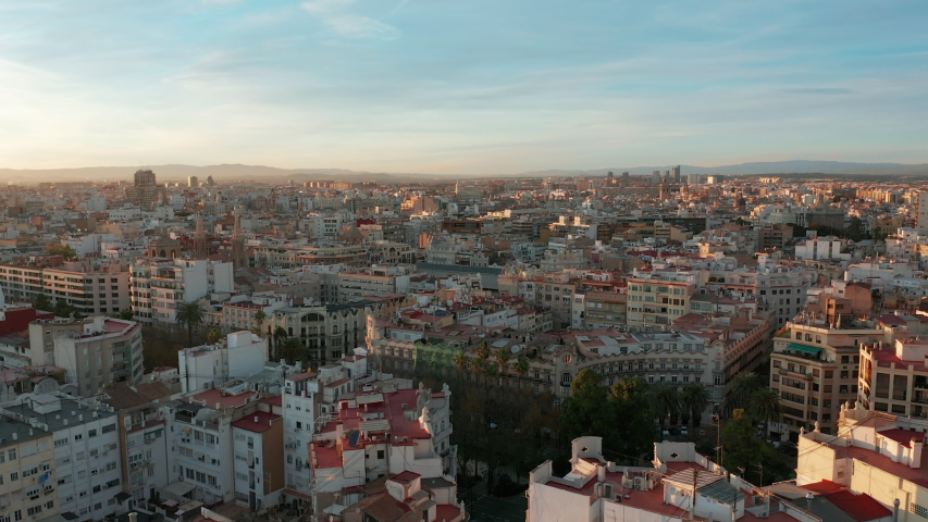 Aerial view. Valencia city. Panorama. | Shutterstock HD Video #1055922266