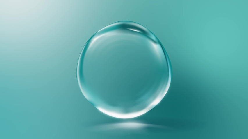 Realistic water bubble with light effect