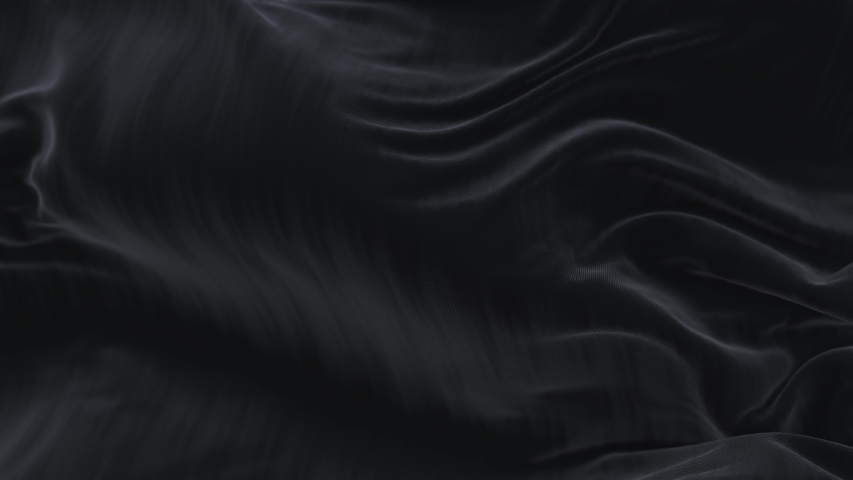 4k seamless Wave Black satin fabric Background.Silk cloth fluttering in the wind.tenderness and airiness.3D digital animation of a waving cloth.  Royalty-Free Stock Footage #1055970779