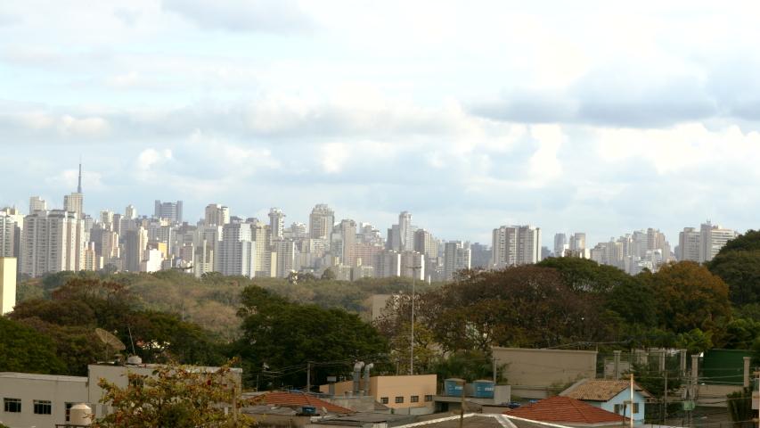 Skyline São Paulo - Pan | Shutterstock HD Video #1055972363
