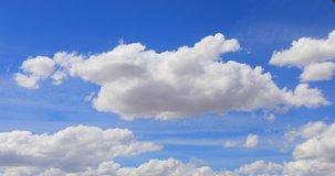 beautiful cloud Blue sky with clouds 4K sun Time lapse clouds