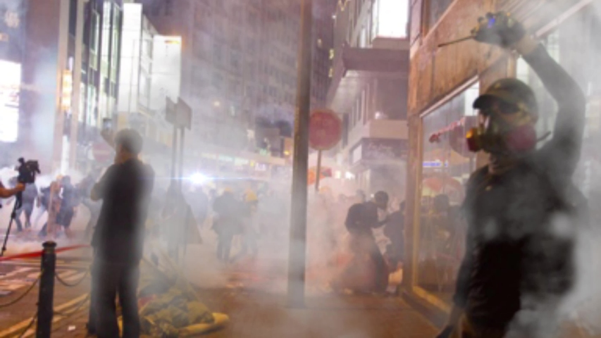 Riot in city streets at night urban destruction chaos motion Cinemagraph . High quality 4k footage. Night chaos in urban city streets from protest. Property destruction from riots. Royalty-Free Stock Footage #1055994365