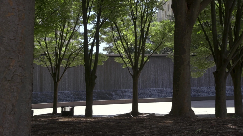Atlanta Downtown Woodruff Park Trees and Fountain | Shutterstock HD Video #1055998553