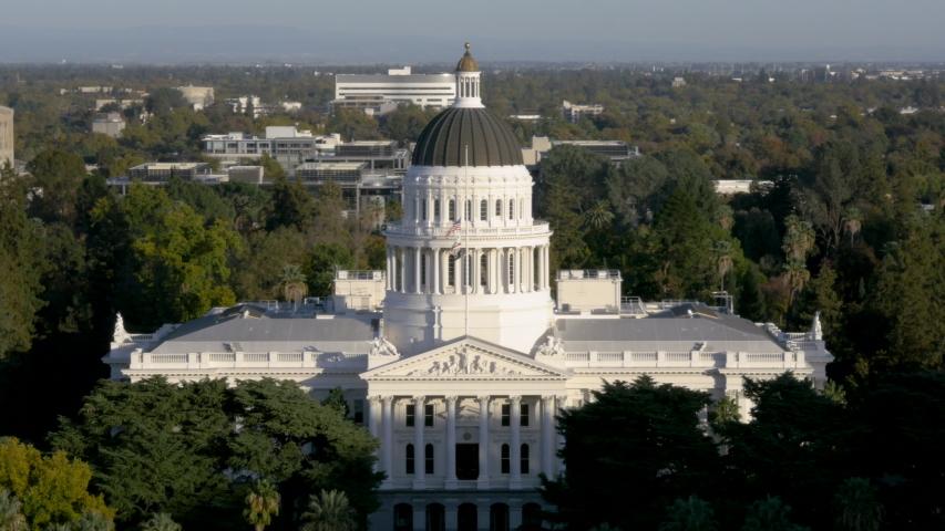 Drone Sacramento Capitol Building 4K 24FPS | Shutterstock HD Video #1056022955