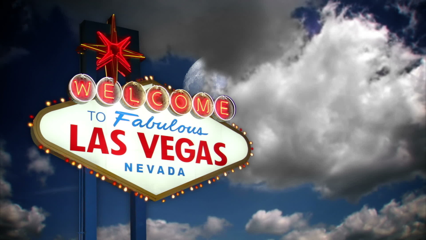 Welcome to las vegas background | Shutterstock HD Video #1056047045