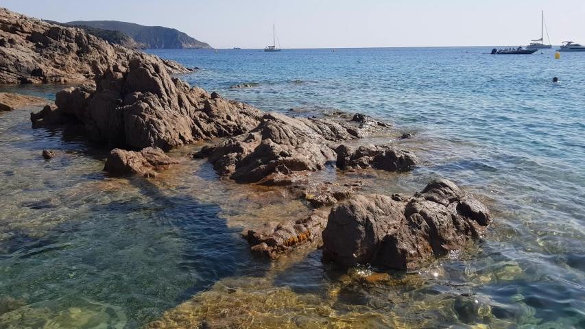 Stones in Piana beach, Corsica, France