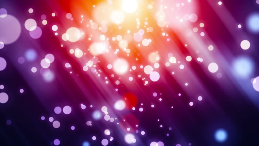 4K Abstract motion background, shining light, rays, bokeh, particles, and energy waves. Loopable seamlessly.