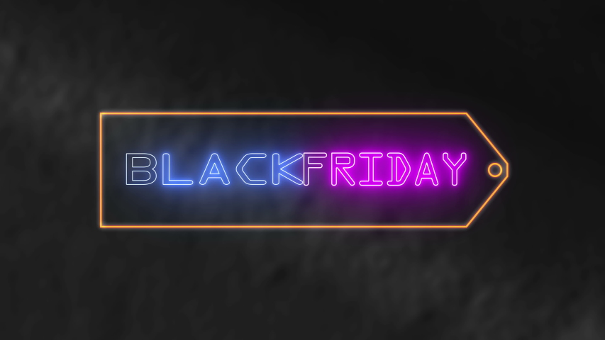 Neon light text black friday animation. Animation flashing neon on dark background. | Shutterstock HD Video #1056069950