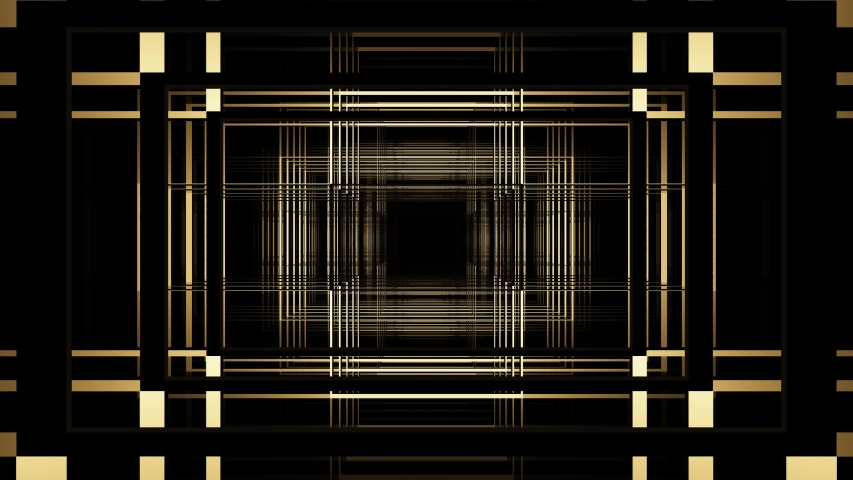 Art deco golden abstract background loop