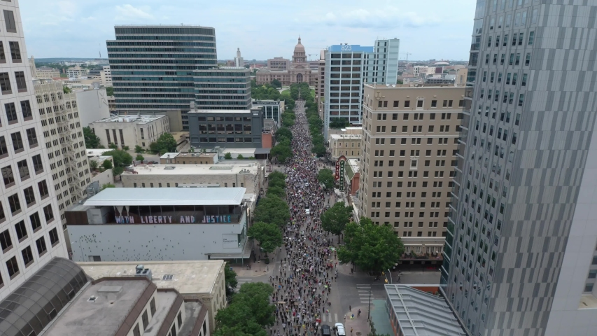 Austin Black Lives Matter March Drone