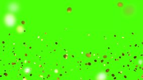 Colorful 3D animation of confetti falling on green screen  can easily put it into scene or video. Celebrate the holidays with it.