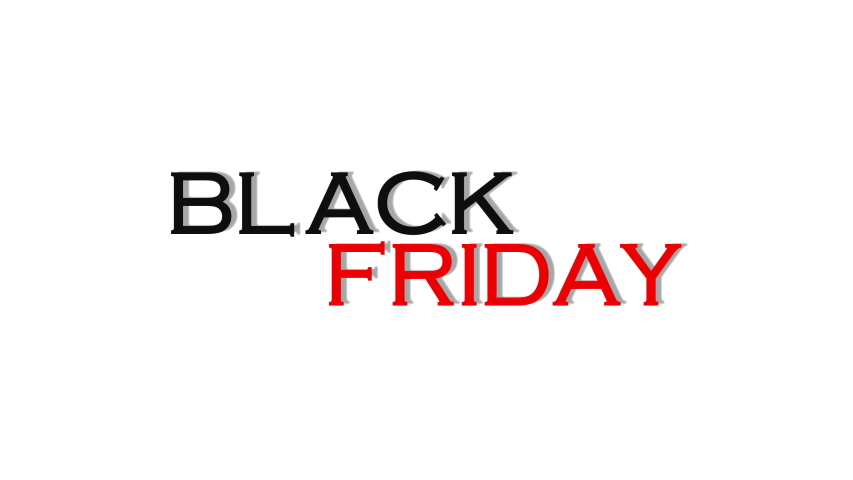 Black friday glitch text animation on white background. | Shutterstock HD Video #1056199496