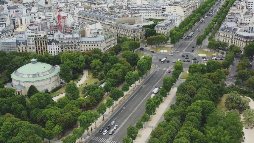Aerial video Champs Elysees, Aerial photography of France, Drone view, Famous places of paris, main road, big road, road, Champs Elysees, Panoramic view of Paris, Paris aerial view, France | Shutterstock HD Video #1056224324