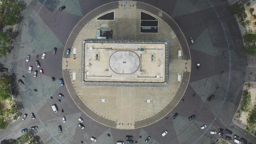 Aerial video of the Arc de Triomphe in Paris, Arc de Triomphe in Paris, Drone view in France, panoramic view of Paris, Arc de Triomphe, Famous places in France, famous places in Paris, France   Shutterstock HD Video #1056224357