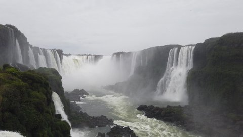 The magnificent Iguazu waterfalls in Argentina