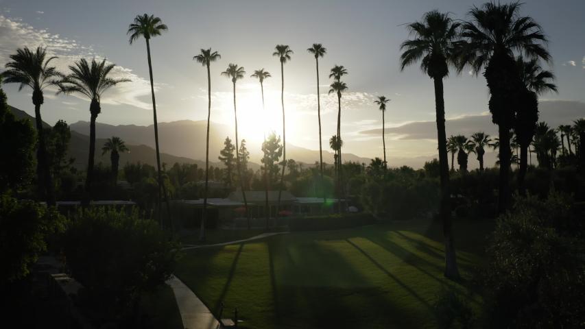 Drone Palm Springs 4K 30FPS | Shutterstock HD Video #1056249677
