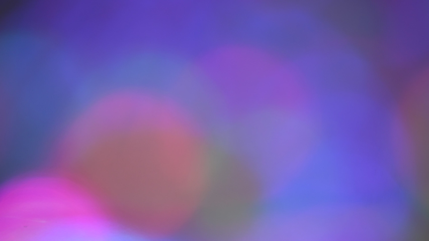 Bokeh blur from multi-colored LED decorative lights | Shutterstock HD Video #1056262244