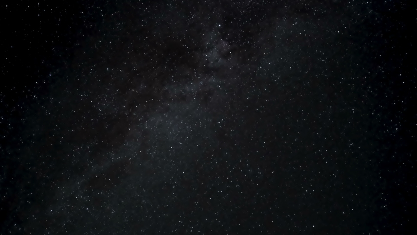 Milky way galaxy motion and falling stars on summer night starry sky,universe Royalty-Free Stock Footage #1056271034