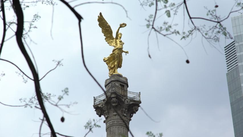 Angel of Independence in Paseo de la Reforma, Mexico City.