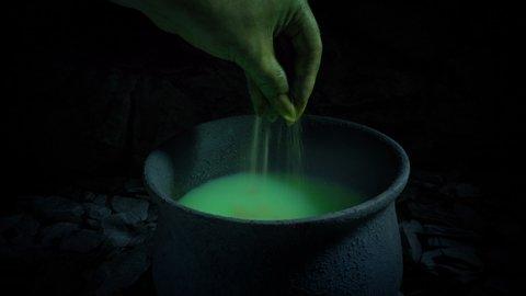 Magic Potion Being Made Fantasy Scene