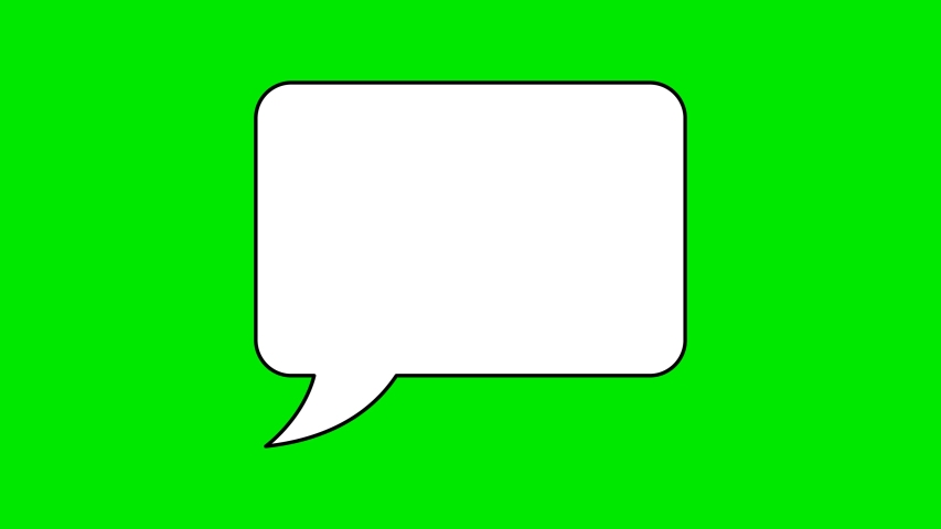 Animated white outlined speech bubble, chat balloon icon.  | Shutterstock HD Video #1056316748