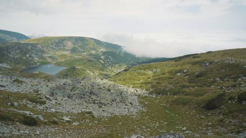 People from the White Beard are preparing to perform the ritual dance Paneurhythmy. It is located on the Risla lakes in the Rila Mountains in Bulgaria.