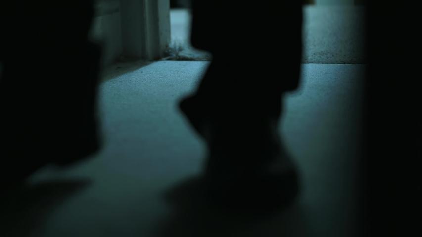 Creepy Man Walks Into Bedroom At Night.   Shutterstock HD Video #1056411671