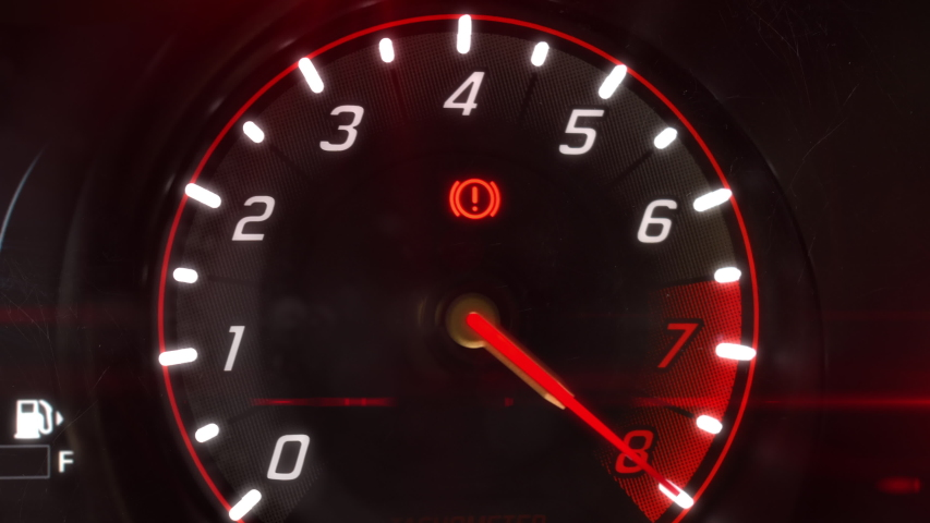Car Tachometer Engine Revving Needle Stock Footage Video (100%  Royalty-free) 1056417608 | Shutterstock