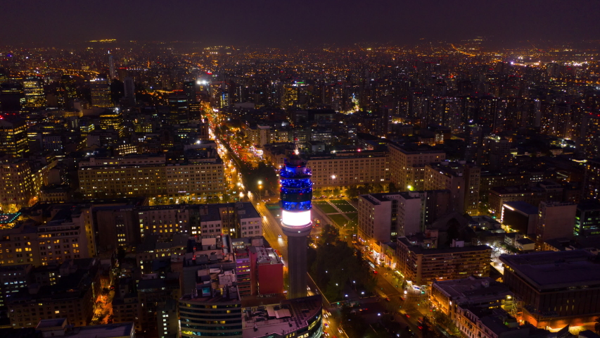 Night Hyperlapse in Alameda, the main avenue of Santiago, Chile. | Shutterstock HD Video #1056455804
