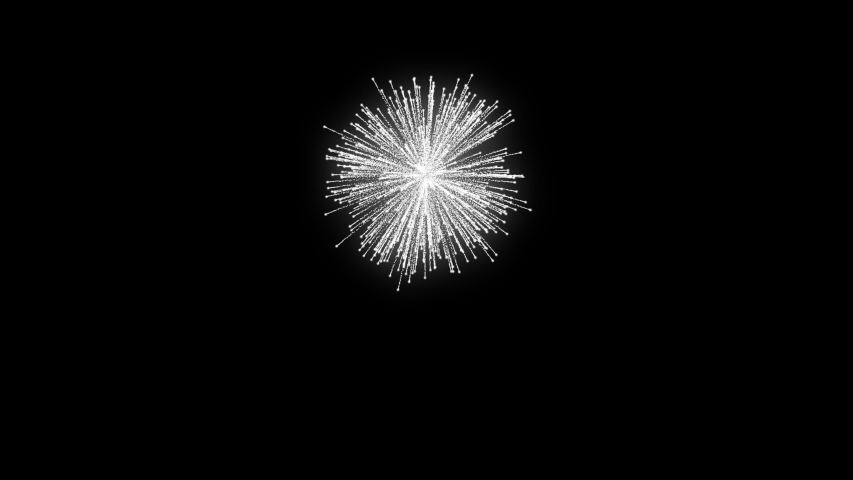 Glittery Fireworks with a long trail - 60 FPS   Shutterstock HD Video #1056457937