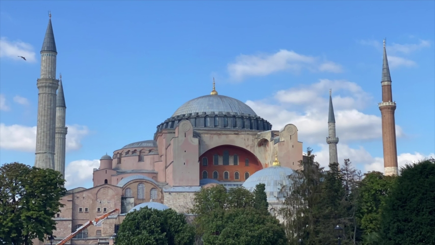 Timelapse footage of Hagia Sophia Grand Mosque