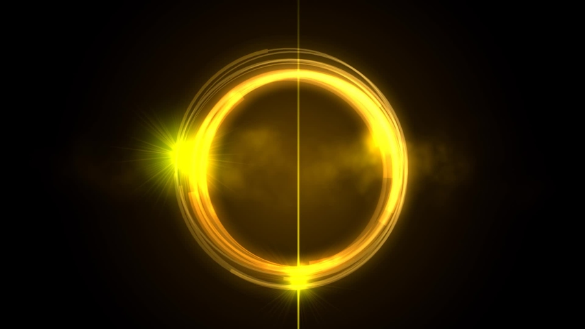 Gold light animation effect for backgroundloop able