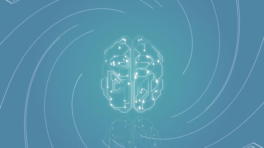 4k video of artificial intelligence brain animation, data mining concept.   Shutterstock HD Video #1056630968